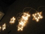 """Voila!"" Lights! Eight twinkling snowflakes....."